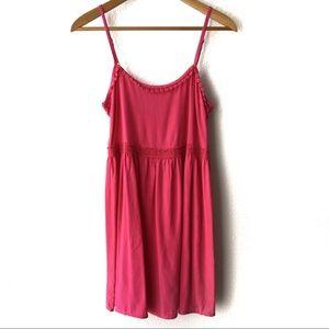Altar'd State Fuchsia Pink Crochet Trim Mini Dress